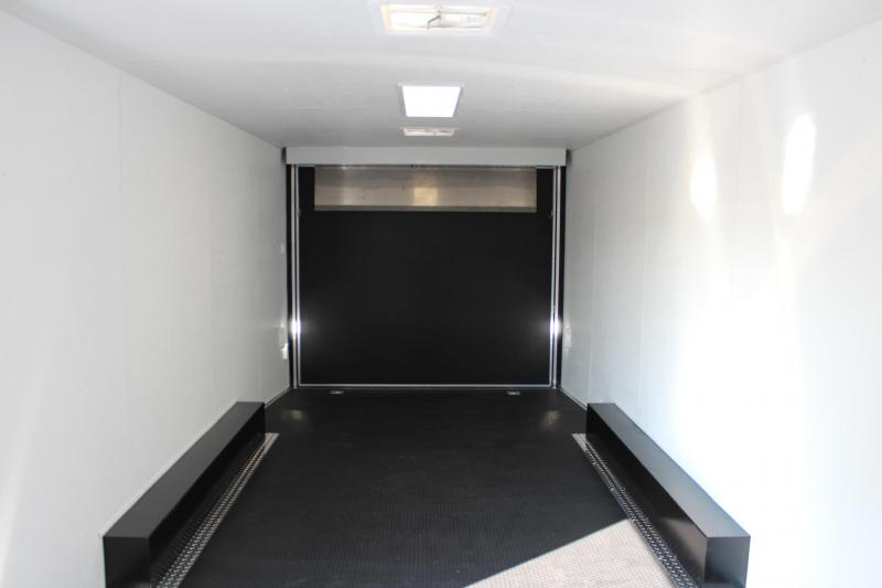 <b>It's a WOW!</b>  2020 24' Black Millennium Silver Spread Axle V-Nose Enclosed Trailer w/Gold Pkg.