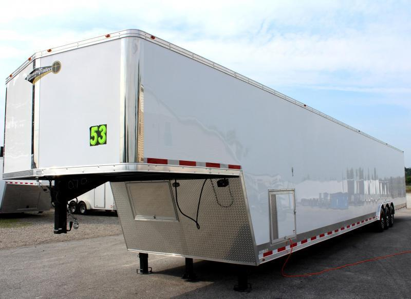 <b>Now Available</b>  2020 53' Millennium Silver Gooseneck Enclosed Trailer/ 90' Rec. E-Track Finished Int. Ready 08/06