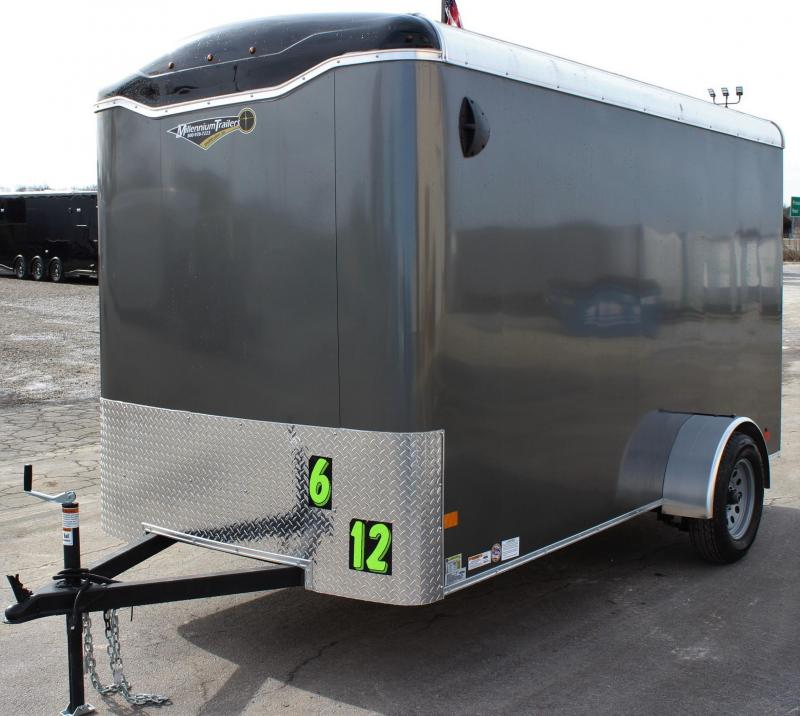 <b>New Arrival</b>  2020 6'x12' Millennium Transport Cargo Trailer w/Ramp Door