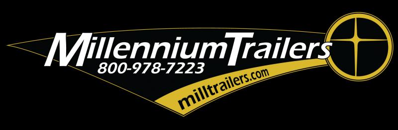<b>READY 4/10</b> 2020 53' Millennium Silver Gooseneck Enclosed Trailer/ 90' Rec. E-Track Finished Int.