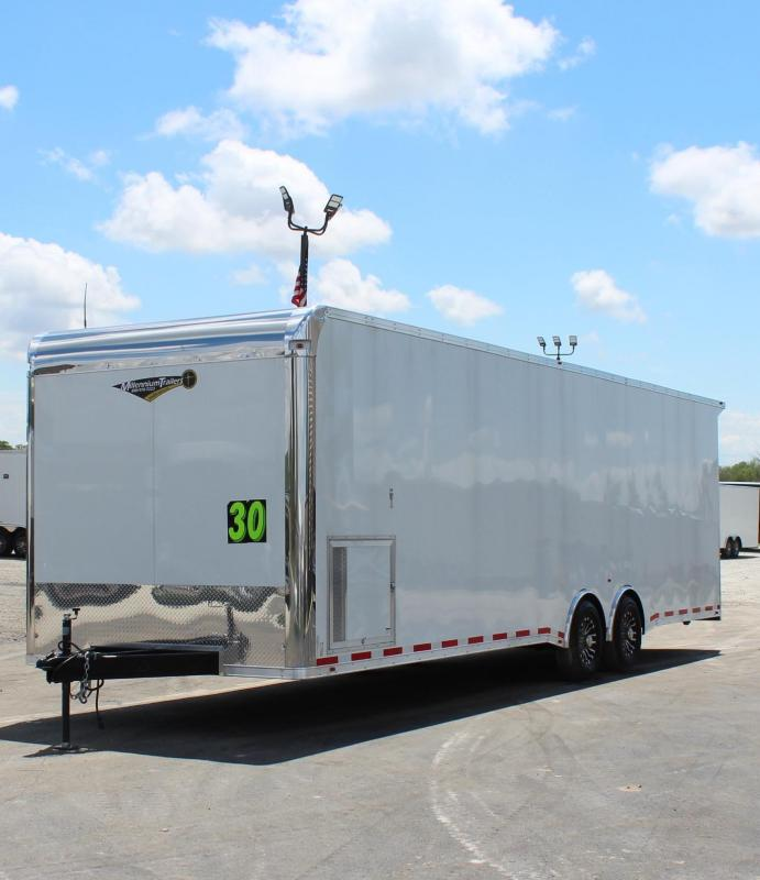<b>Super Loaded 30' Race Trailer</b> 2020 Millennium Platinum Spread Axle/Rear Wing/Stereo w/6 Speakers