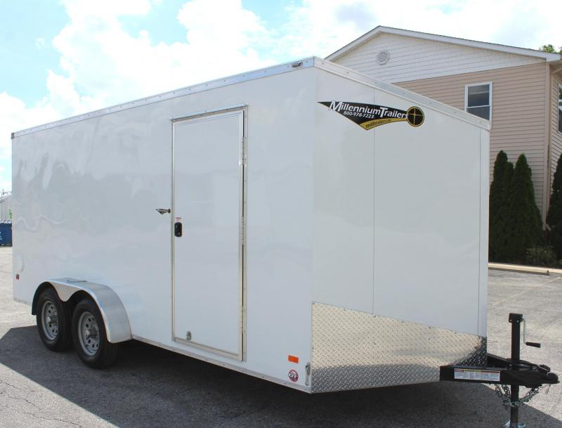 <b>CLEARANCE NOW $5999</b> 2020  7' x 16' Scout Screwless Cargo with Ramp Door FREE OPTIONS