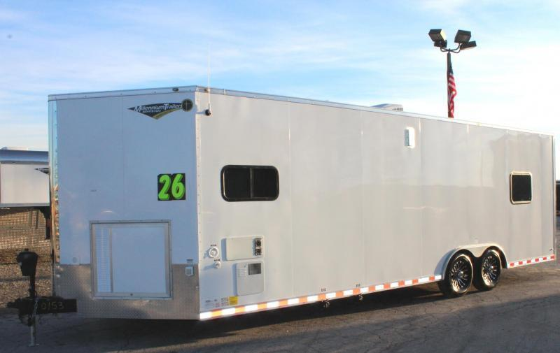 <b>NOW AVAILABLE</b> 26' Millennium Auto Master Enclosed Trailer Toy Hauler w/Living Quarters