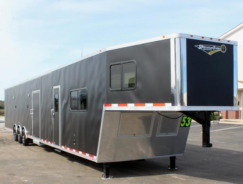 <b>Orders Only</b> 53' Matte Black Ext w/12'S + 8' GN w/7.5 Onan Diesel Generator
