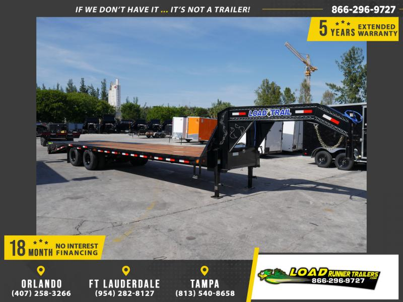 *108176* 8.5x30 Gooseneck Flatbed Deck Over Trailer w/Mega Ramps 8.5 x 30