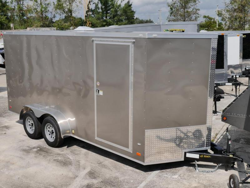 *107831* 7x16 Enclosed Cargo Trailer |Awesome Tandem Axle Trailers 7 x 16