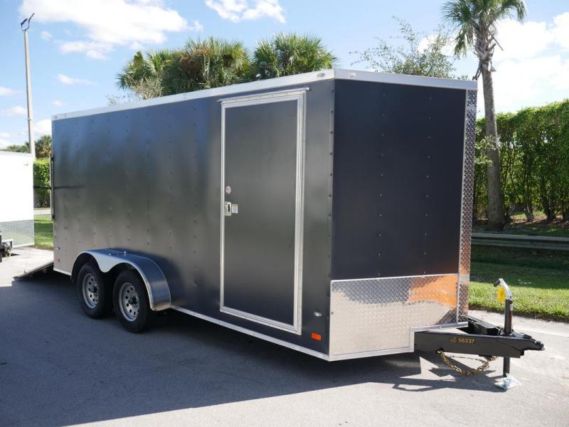 *108081* 7x16 Enclosed Cargo Trailer WITH TEXTURED SIDING | SCRATCH RESISTANT/HIDING 7 x 16 | EV7-16T3-R