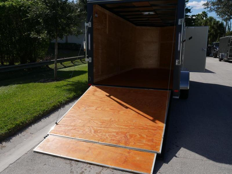 *108081* 7x16 Enclosed Cargo Trailer WITH TEXTURED SIDING | SCRATCH RESISTANT/HIDING 7 x 16