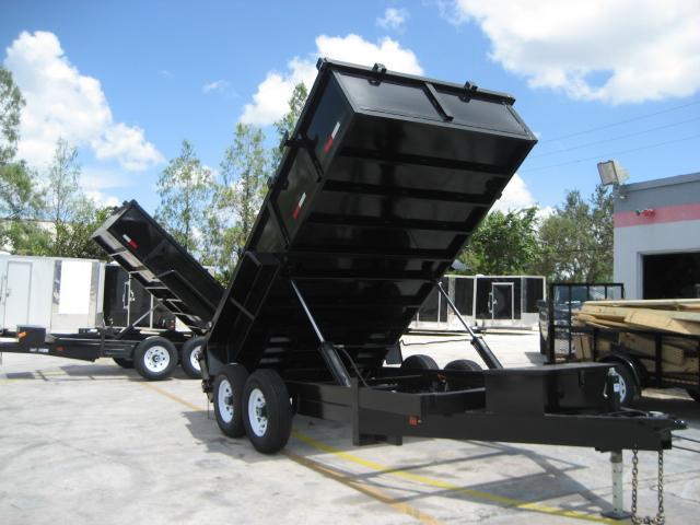 *DB55* 7x14 7 TON Twin Piston Dump Trailer LRT Dumps and Trailers 7 x 14   D82-14T7-24S