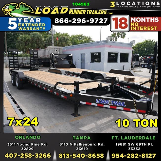 *104963* 7x24 Equipment Trailer |LRT Haulers & Trailers 7 x 24