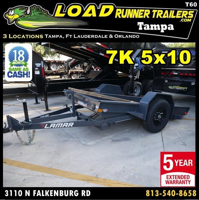 *T60* 5x10 Tilt Deck Bobcat Hauler Trailer 7K Trailers 5 x 10 | T59-10S7T-GT