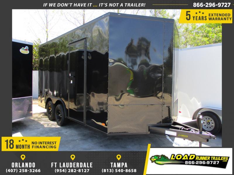 *109264* 8.5x16 Enclosed Cargo Trailer |LRT Tandem Axle Trailers 8.5 x 16