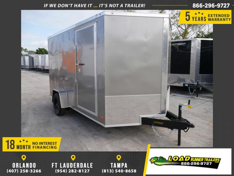 *108422* 7x12 Enclosed Cargo Trailer |LRT Haulers & Trailers 7 x 12
