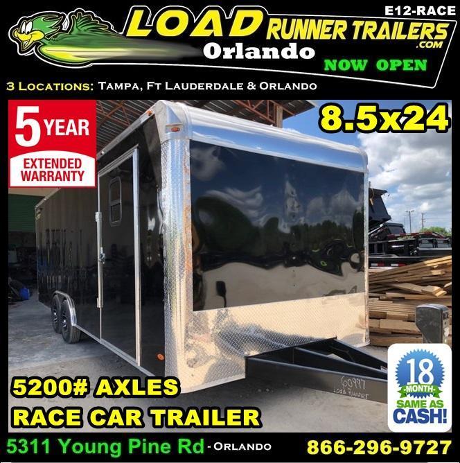 *E12-Race* 8.5x24 RACE CAR ENCLOSED CARGO TRAILER |LR TRAILERS 8.5 x 24 | EF8.5-24T5-RACE