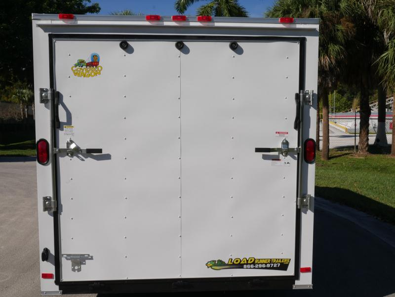 *E9G* 7x16 Enclosed Cargo Trailer Tandem Axle Hauler 7 x 16 | EV7-16T3-R