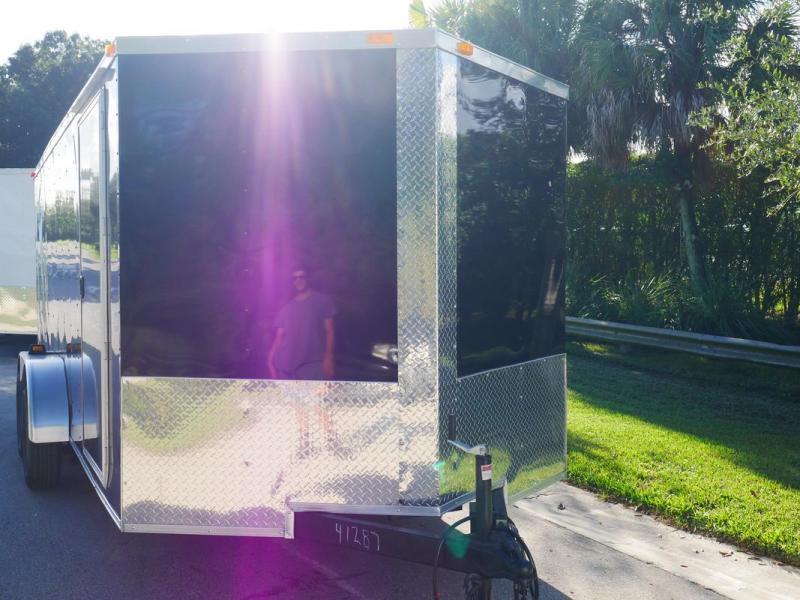*107877* 7x16 Enclosed Cargo Trailer SGC |LRT Tandem Axle Trailers & Haulers 7 x 16 | EV7-16T3-R