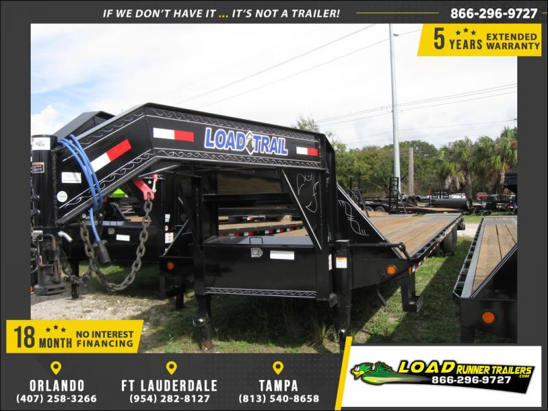 *106655* 8.5x40 Gooseneck Flatbed Deck Over Trailer |LRT Haulers & Trailers 8.5 x 40