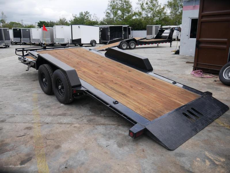 *104765* 7x16+4 Tilt Deck Trailer w/10K Jack, Tool Tray | Tandem Axle Trailers 7 x 16+4 | T83-16+4T7T-GT