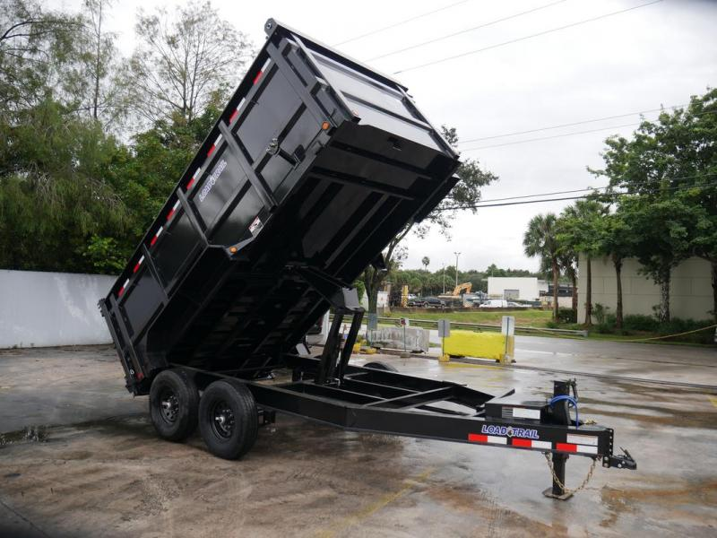 *107956* 7x14 Dump Trailer |LRT Tandem Axle Trailers 7 x 14