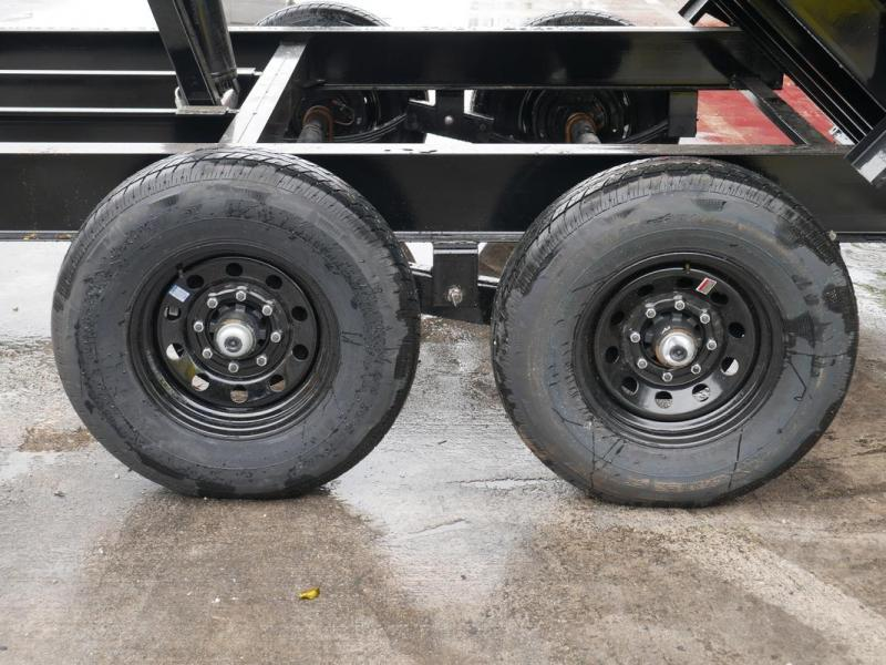 *107956* 7x14 Dump Trailer  LRT Tandem Axle Trailers 7 x 14