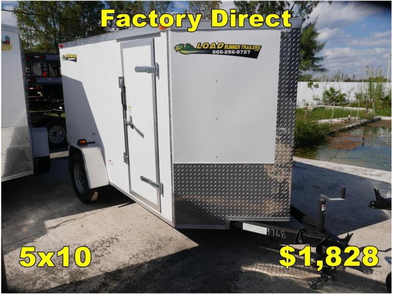 *FD05 TPA* 5x10 FACTORY DIRECT!| Enclosed Cargo Trailer |Trailers 5 x 10