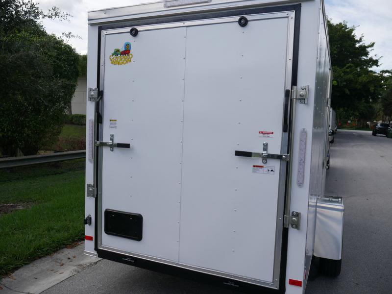 *108014* 6x12 Enclosed Cargo Trailer |TEXTURED SCRATCH RESISTANT EXTERIOR 6 x 12