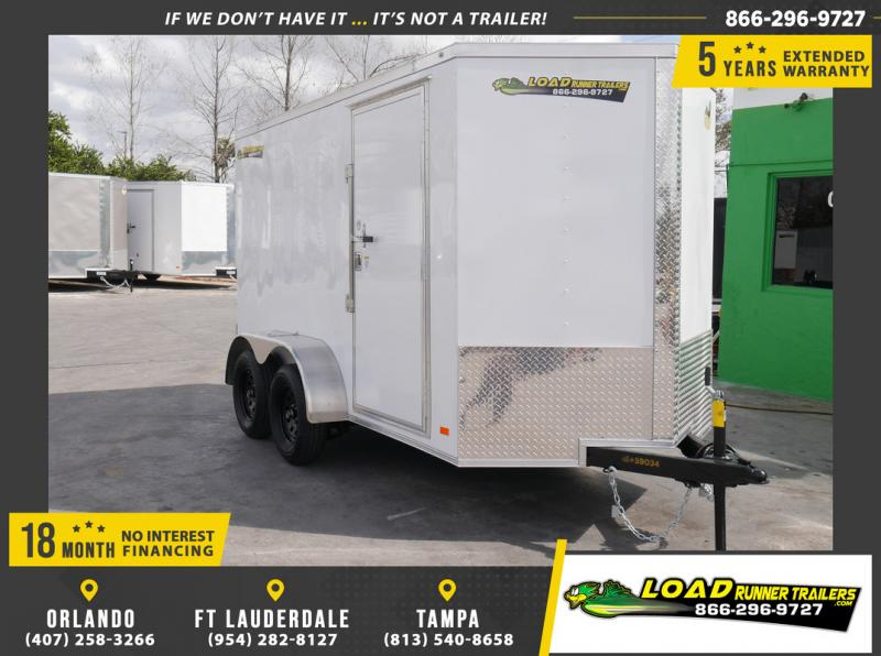 *108896* 6x12 Enclosed Cargo Trailer |LRT Tandem Axle Trailers 6 x 12