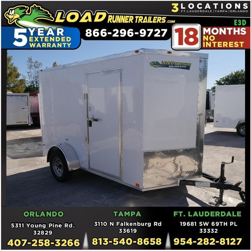 *E3D* 6x10 Enclosed Trailer | Cargo Trailers W/ Barn Doors #105805 6 x 10 | EV6-10S3-DD