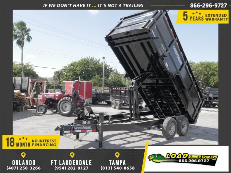 *108555* 7x16 Dump Trailer |LRT Tandem Axle Trailers 7 x 16