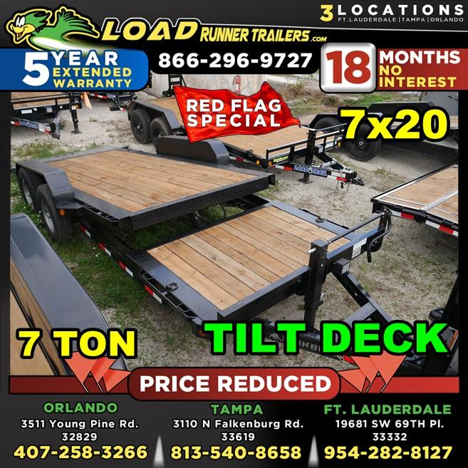 *104669* 7x16 7 TON Tilt Equipment Hauler Trailer | Heavy Duty 7 x 16