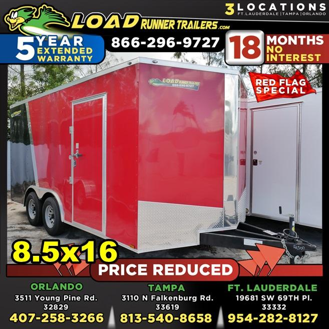 *106237* 8.5x16 Enclosed Cargo Trailer | Car Hauler Trailers 8.5 x 16