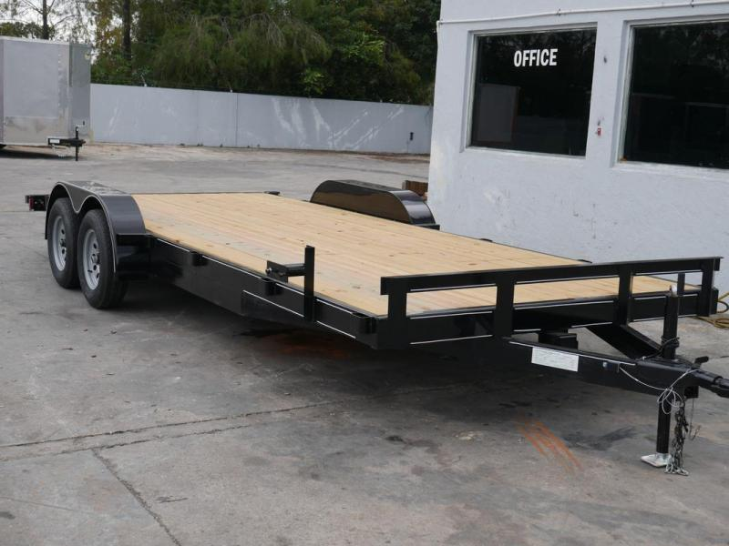 *108027* 7x20 Car Hauler Trailer |LRT Tandem Axle Trailers 7 x 20