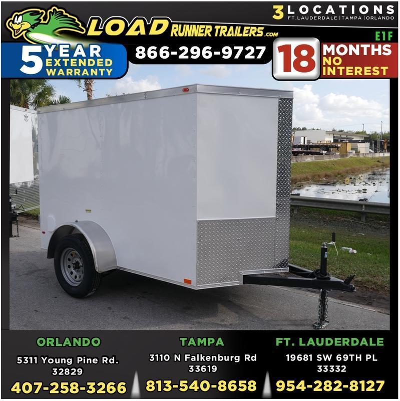 *E1F* 5x8 Enclosed Trailer  LR Trailers Cargo 5 x 8 | EV5-8S3-R