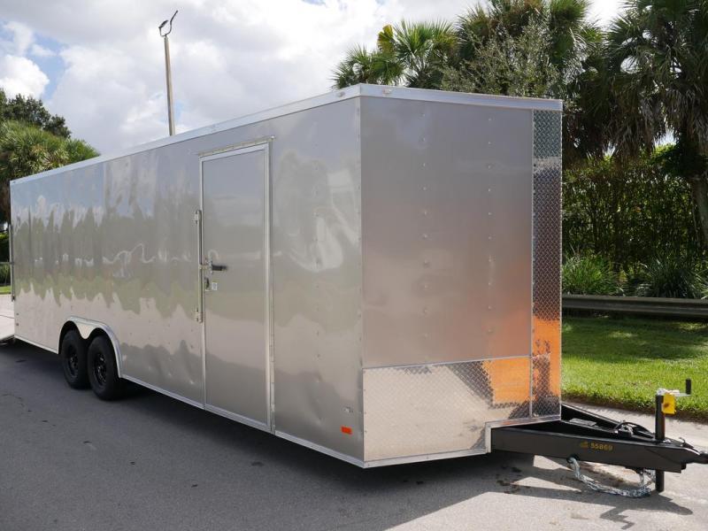 "*108112* 8.5x24 Enclosed Cargo Trailer 12"" OC Bracing 7' Interior Height | Beige 8.5 x 24 | EV8.5-24T3-R"
