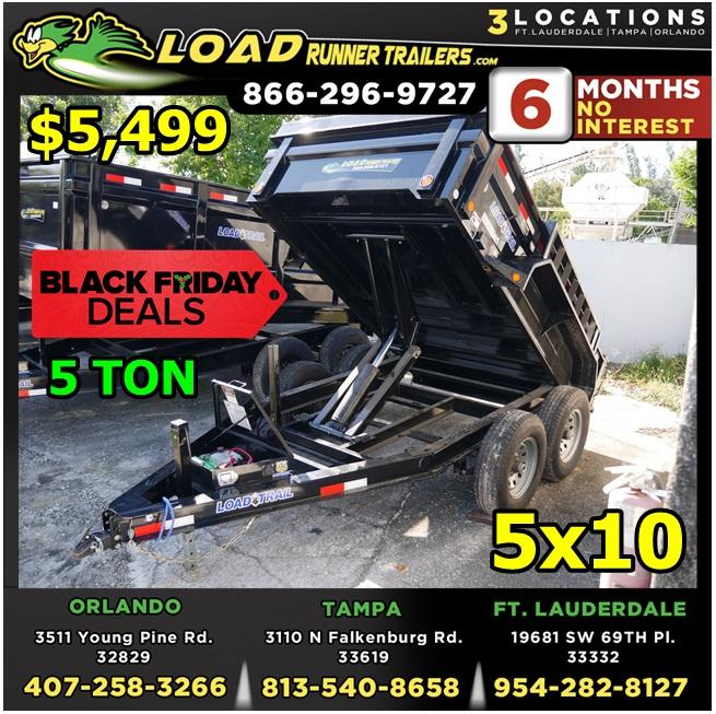 *BFD610 FTL* 6x10 Dump Trailer 5 TON  BLACK FRIDAY 6 x 10