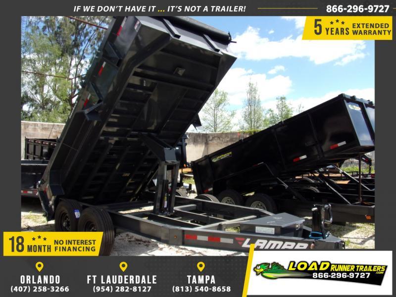 *109302* 7x14 Dump Trailer |LRT Tandem Axle Trailers 7 x 14