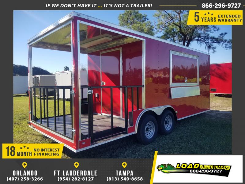 *108387* 8.5x20 Enclosed Cargo Concession Trailer with Porch 8.5 x 20