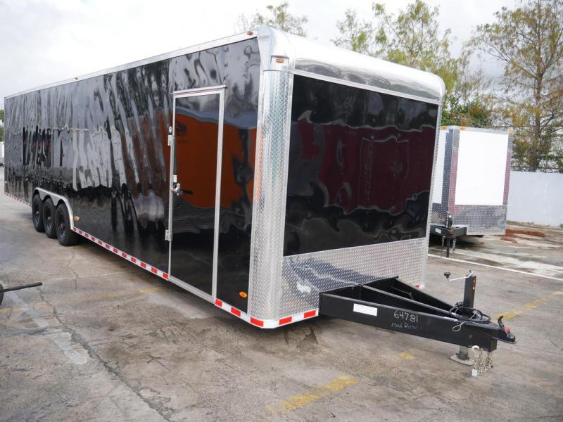 *108356* 8.5x36 2 Car Hauler Enclosed Cargo Trailer 8.5 x 36