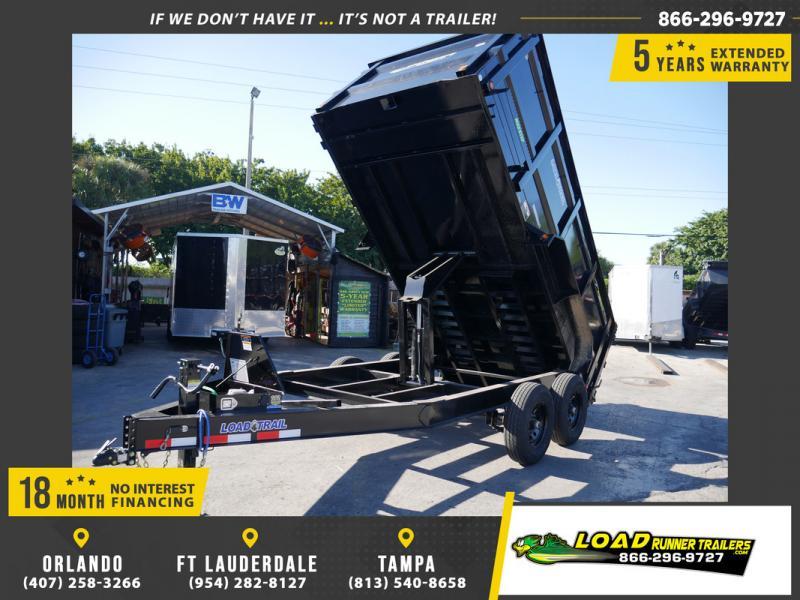 *108479* 7x14 Dump Trailer |LRT Tandem Axle Trailers 7 x 14