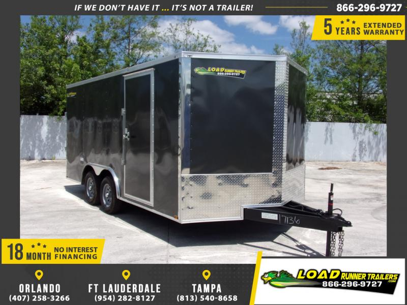 *109475* 8.5x16 Enclosed Cargo Trailer |LRT Tandem Axle Trailers 8.5 x 16