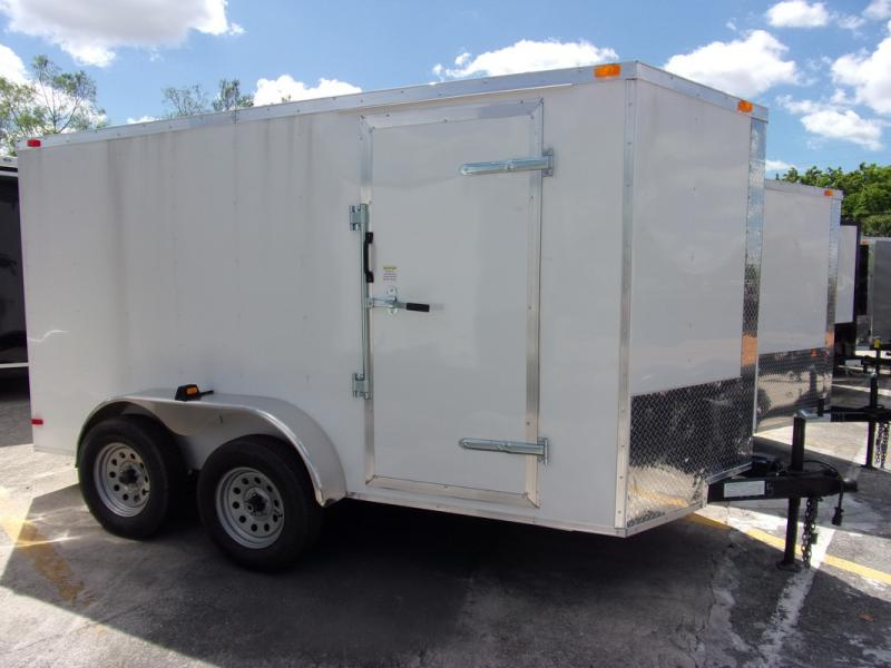 *108912* 6x12 Enclosed Cargo Trailer |LRT Tandem Axle Trailers 6 x 12