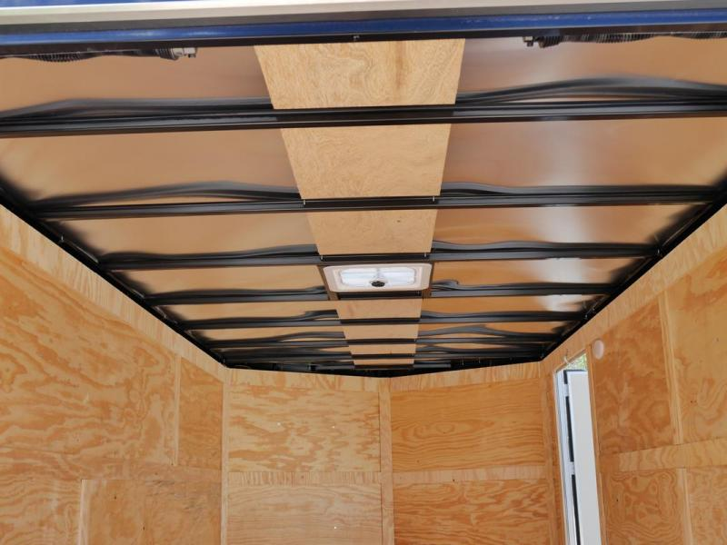 *107904* 7x14 Enclosed Cargo Trailer W/Ramp |LRT Tandem Axle Trailers 7 x 14