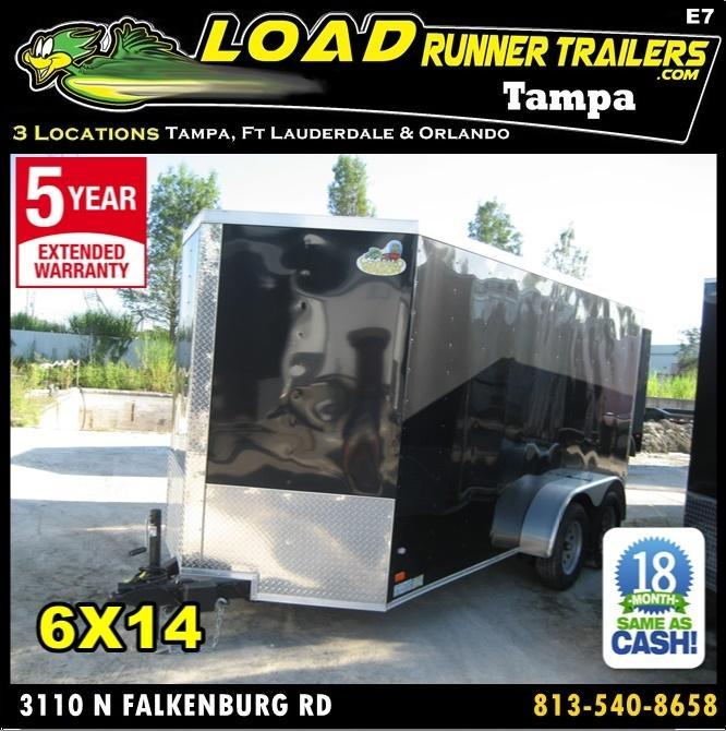 *E7* 6x14 Enclosed Trailer Cargo Tandem Axle Catering 6 x 14 | EV6-14T3-R