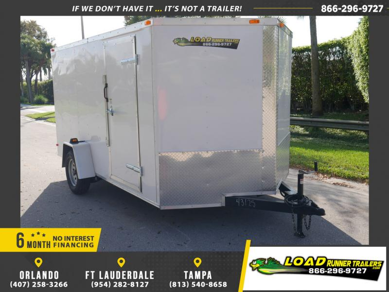 *108833* 7x12 Enclosed Cargo Trailer  LRT Haulers & Trailers 7 x 12