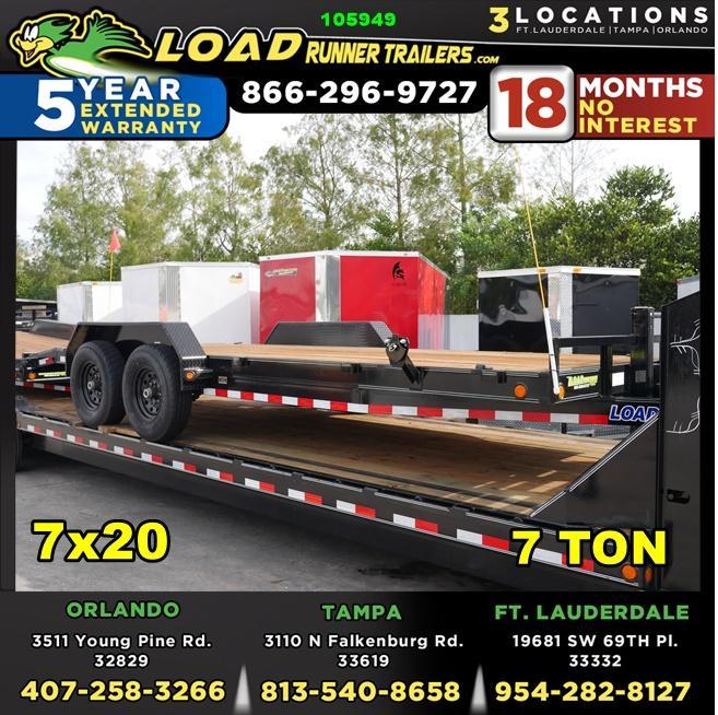 *105949* 7x20 Car Trailer |LRT Tandem Axle Trailers 7 x 20 | CH83-20T7