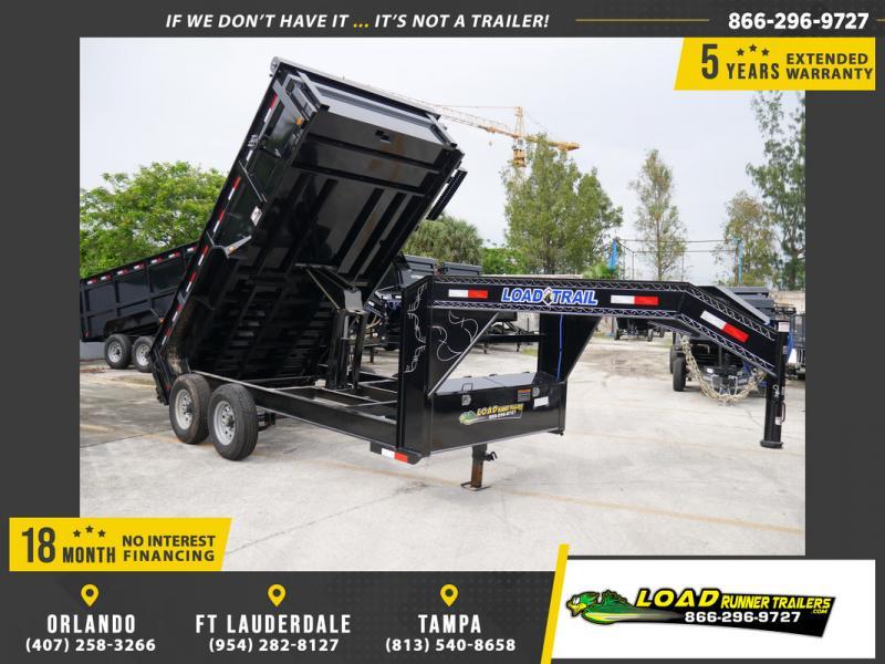*107804* 7x14 Gooseneck Load Trail Dump Trailer |LRT Tandem Axle Trailers 7 x 14