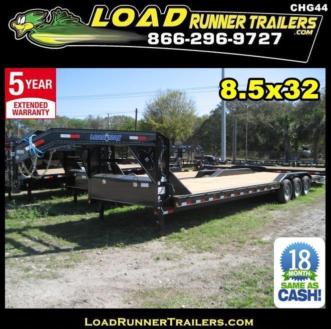 *CHG44* 8.5x32 7 TON Gooseneck Car Hauler Trailer |LR Trailers 8.5 x 32 | CHG102-32TT7-DOF