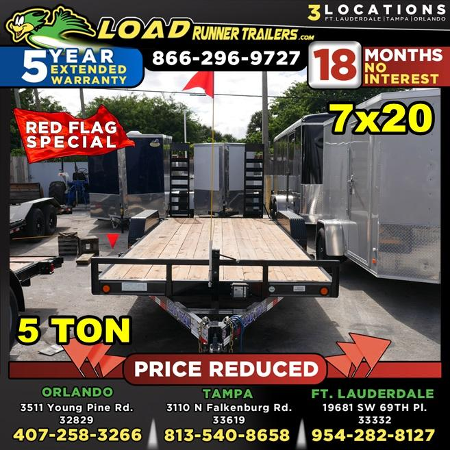 *104499* 7x20 PRICE REDUCED!| Equipment Trailer |LRT Tandem Axle Trailers 7 x 20