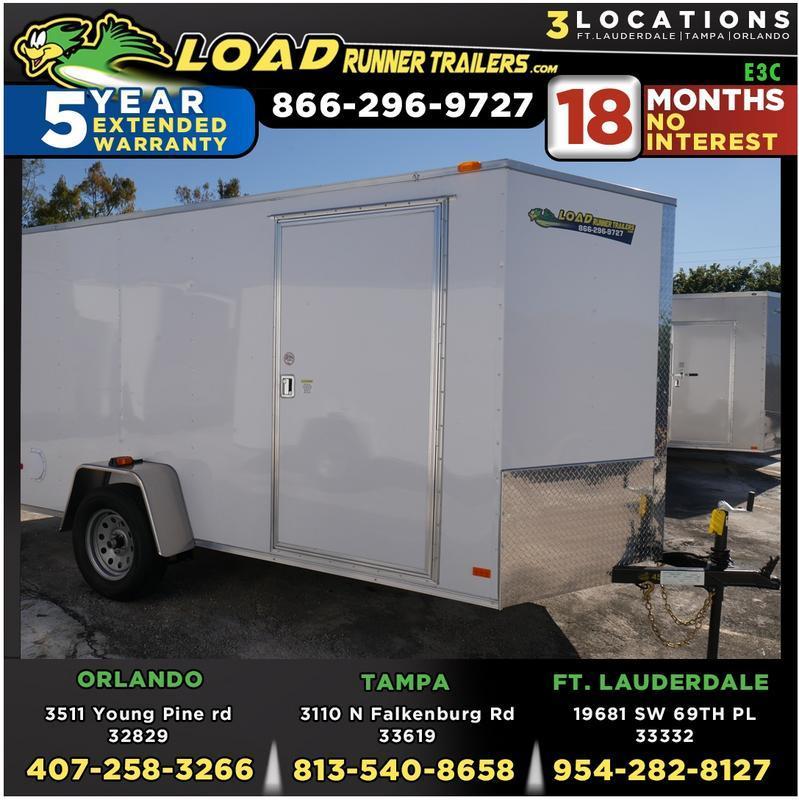 *E3C* 6x10 Enclosed Trailer Cargo L R  Lawn Trailers 6 x 10 | EV6-10S3-R