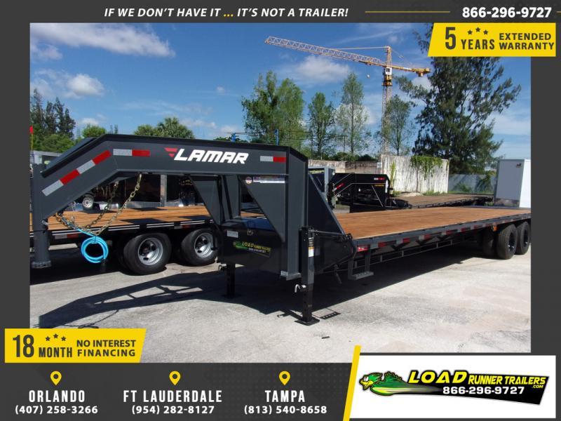 *109335* 8.5x32 Gooseneck Flatbed Deck Over Trailer |LRT Haulers & Trailers 8.5 x 32